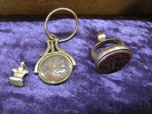 Lot 235 - Three Wax Seals - Sold for £40