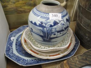 Lot 340 - Plates and a Ginger Pot - Sold for £65