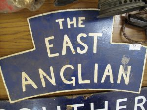 Lot 72 - The East Anglian Train Sign -Sold for £60