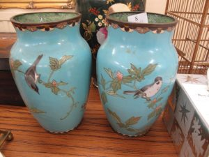 Lot 8 - Pair of oriental vases - Sold for £30