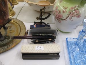 Lot 378 - Old writing instruments and pens - Sold for 65