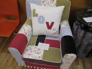 Lot 193 - Patchwork chair - Sold for £32