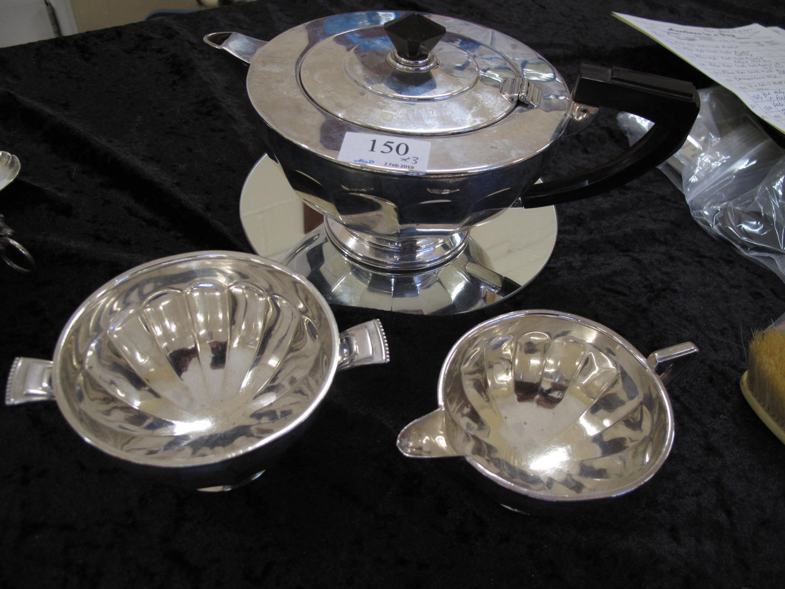 Lot 150 - Mappin and Webb Silver Tea Set - Sold for £320