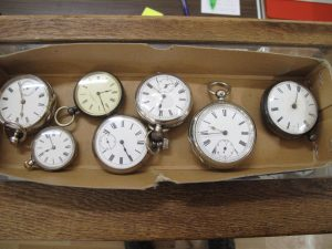 Lot 218 - Seven Silver Pocket Watches - Sold for £130