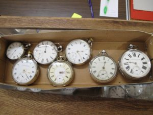 Lot 219 - Seven Silver Pocket Watches - Sold for £140