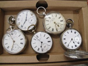 Lot 220 - Five Silver Pocket Watches - Sold for £100