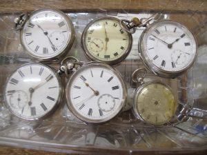 Lot 221 - Six Silver Pocket Watches - Sold for £110