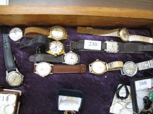 Lot 230 - Ten Gentleman's Wrist Watches - Sold for £100