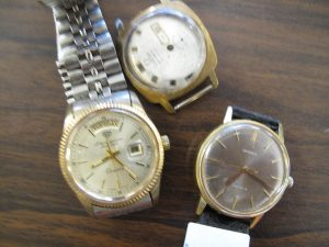 Lot 240 -Three Gentleman's Wrist Watches 2 x Omega and Jules Jurgenson - Sold for £170