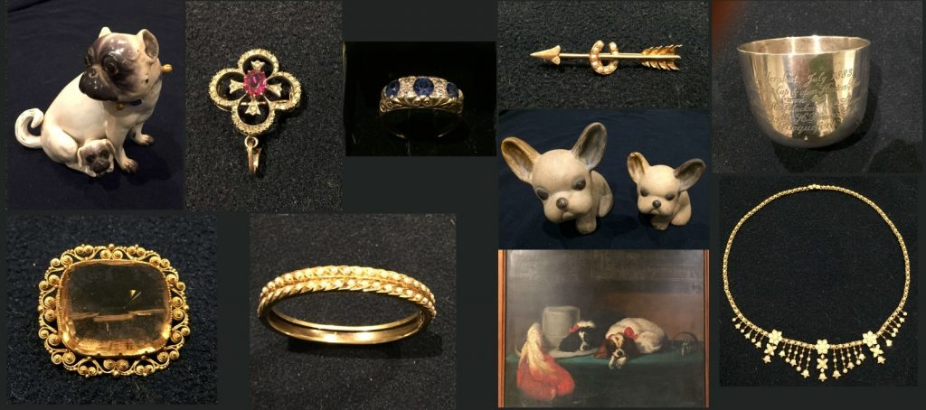 Overview of the Jewellery, Silver and Art for sale on the 6th April 2019