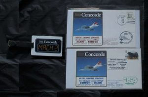 Concorde First Day Covers Miami London 1984