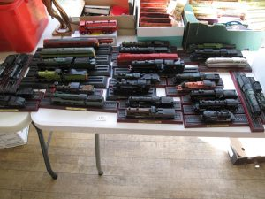 Lot 113 - Collection of 28 static train models - Sold for £35