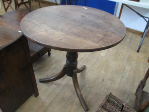 Lot 221 - Oak Tripod Table - Sold for £28
