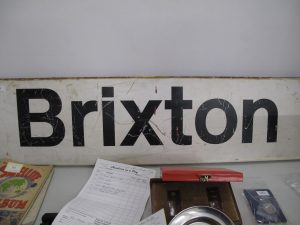 Lot 76 - British Railways Brixton station sign - Sold for £35