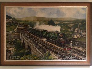 Bernard Jones original oil painting of Tavistock est £40-60