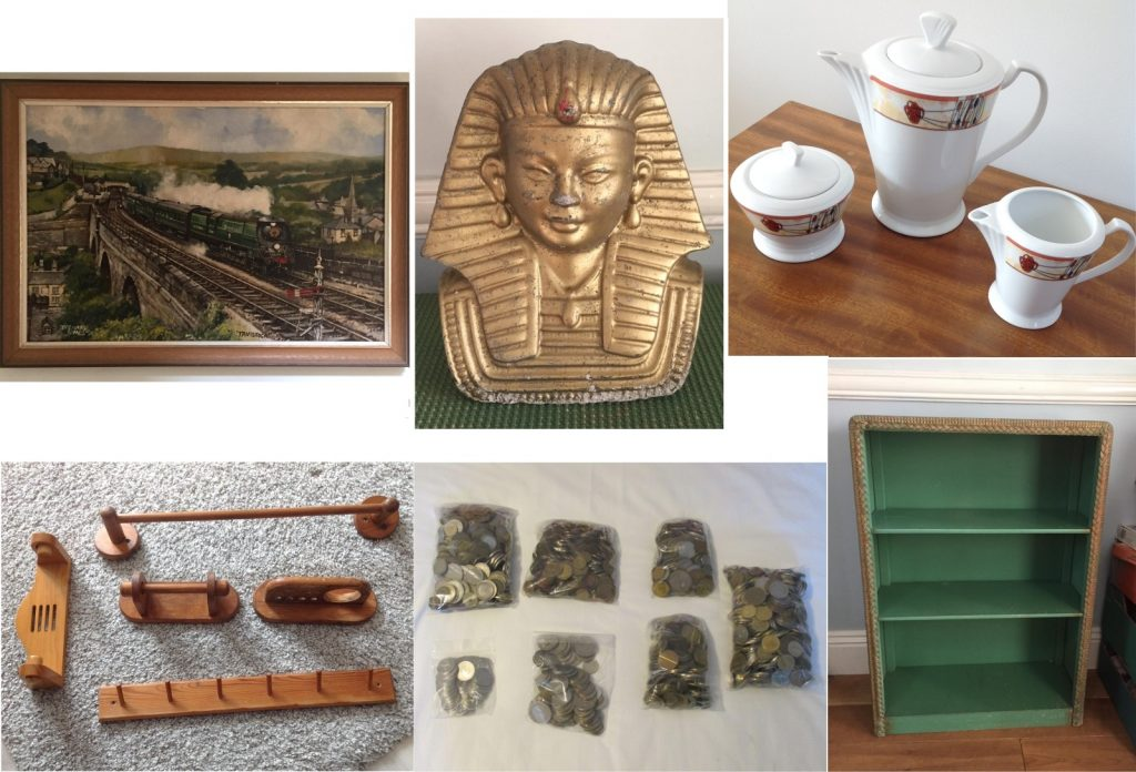 A mixed collection of lots for Saturday's auction
