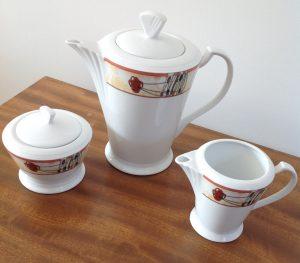 Rennie Mackintosh Coffee Pot - Milk Jug and Sugar Bowl