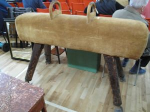 Lot 343 - Vintage pommel horse - Sold for £40