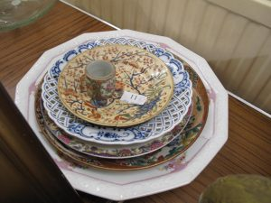 Lot 11 - Collection of old plates - Sold for £40