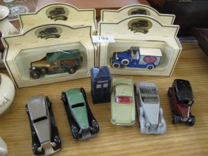 Lot 194 - 9 Dinky vehicles with Dr Who Police Box -Sold for £55