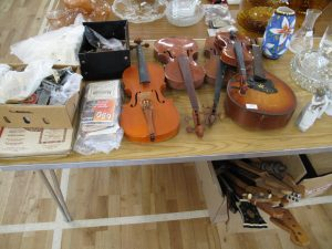 Lot 250 - Collection of musical instruments, spares, strings and tools - Sold for £40