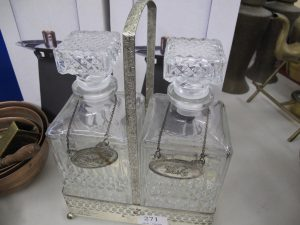 Lot 271 - Glass Decanters - Sold for £25