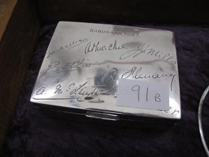 Lot 91b - Babugarh 1927 silver box - Sold for £50