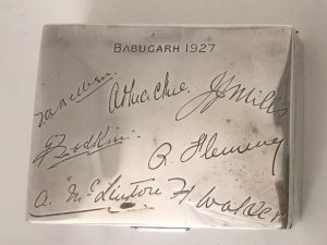 Silver box Jacobs Horse Regiment Babugarh India 1927