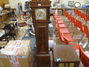 Lot 228 - Grandmother clock - Sold for £70
