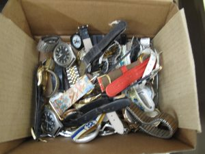 Lot 229 - Box of assorted watches - Sold for £55
