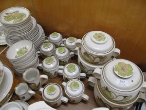 Lot 362 - Denby Troubadour Dinner Set - Sold for £70