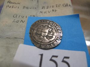Lot 155 - Edward III half groat 1357 - Sold for £50