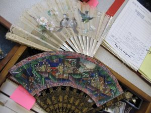 Lot 147l - 2 x Old Ladies Fans in their boxes - Sold for £38