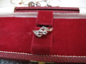 Lot 158 - Diamond Engagement Ring in 14 Carat Gold & Platinum - Sold for £40