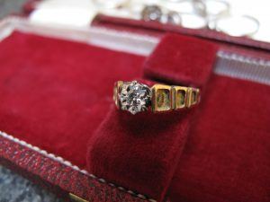 Lot 159 - Diamond Engagement Ring in 18 Carat Gold - Sold for £30