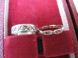 Lot 161 - Eternity Rings 14 Carat Gold & Silver - Sold for £30