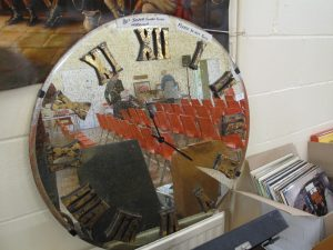 Lot 155 - 1980s Jasper Conran glass mirror clock - Sold for £50