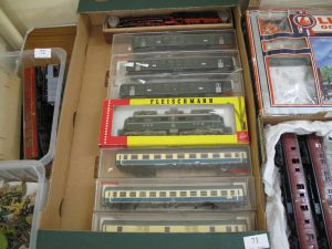 Lot 71 - Fleischmann Electric Locomotive and six Coaches all boxed - Sold for £75