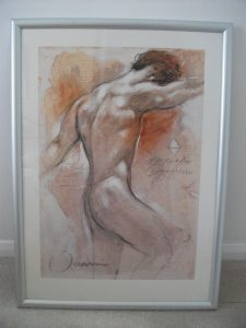 Male Nude print by Joanni 57 x77cm