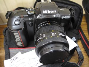 Lot 208 - Nikon F401X SLR Camera with 35 70mm Lens - Sold for £30