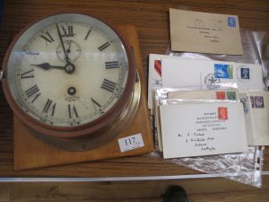 Lot 117 - Vintage Smiths Wall Clock from Officers Mess Farnborough plus ephemera - Sold for £85