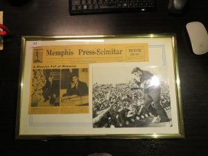 Signed Elvis photo and article